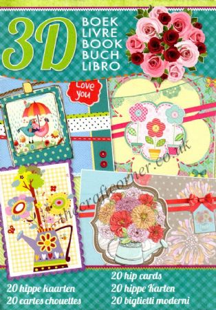 20 Hip Cards 3D Decoupage A4 Book By Studio Light